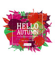 autumn sale discount banner vector image
