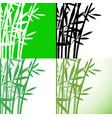 bamboo bambus set background stock vector image vector image