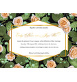 beautiful designer flower card wedding vector image vector image