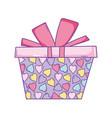 birthday giftbox cartoon vector image