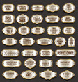 blank gold and silver frame and label collection vector image vector image
