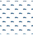blue hatchback car pattern vector image vector image
