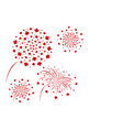 canada fireworks design vector image vector image