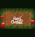christmas background or fir border with fir vector image vector image