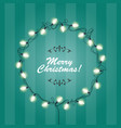 christmas lights wreath frame - round festive
