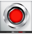 Circle Metal Record Button Applicated for HTML and vector image vector image