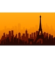 City france of silhouette vector image vector image