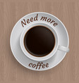 cup of coffee with quote vector image vector image