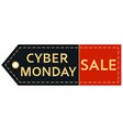 cyber monday sale inscription design template vector image vector image