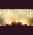 diwali festival lights banner design vector image