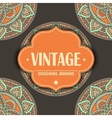 Ethnic floral card vector image vector image