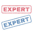 expert textile stamps vector image vector image