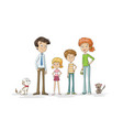 family with pets vector image vector image
