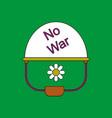 flat icon design collection no war military helmet vector image vector image