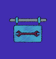 flat icon design collection wrench sign in vector image vector image