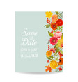 floral wedding invitation card with autumn vector image vector image