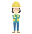 Friendly builder with arms crossed vector image vector image