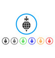 global guard rounded icon vector image vector image