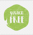 gluten free circle letters in grunge round vector image vector image