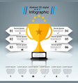 golden cup - business infographic vector image vector image