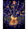 Grunge Guitar and Loudspeakers vector image vector image