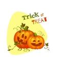 Halloween two pumpkin with sweet smiles vector image
