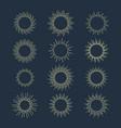 hand drawn sun beams or rays sunshine vector image vector image
