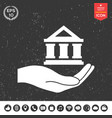 hand holding bank vector image