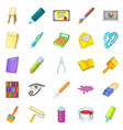 image icons set cartoon style vector image vector image
