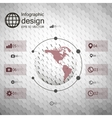 Infographic template for business design hexagonal vector image vector image