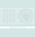 laser cutting frame and damask panel set square vector image vector image