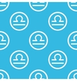 Libra sign blue pattern vector image vector image