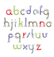 light acrylic alphabet letters set hand-drawn vector image vector image