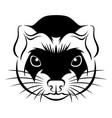line ferret head vector image vector image