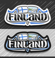 logo for finland vector image
