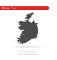 map ireland isolated black vector image vector image