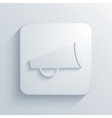 modern loudspeaker light icon vector image