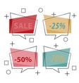 modern promotion square web banner for social vector image