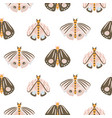 moth cartoon baby seamless pattern vector image vector image