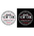 new york typography design t shirt vector image vector image