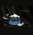 night cream for sensitive skin realistic vector image vector image