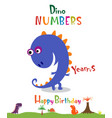 number 9 in form a dinosaur vector image vector image