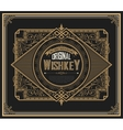 Old Whiskey label with vintage frames vector image vector image