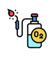 oxygen cylinder for welding color icon vector image vector image