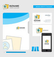 profile business logo file cover visiting card vector image vector image