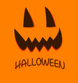 pumpkin face for happy halloween october vector image vector image
