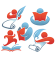 reading and education vector image vector image