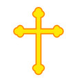 religion cross flat icon easter and holiday vector image vector image