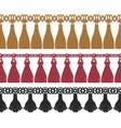 seamless set colorful fringe vector image