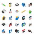 set communication isometric icons vector image
